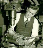 John Garand in the Springfield Armory shop in the 1930s.