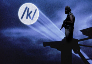 An operator is operating as the /k/ OPERATOR signal appears in the sky.