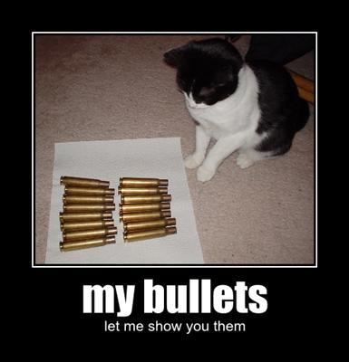 My bullets, let me show you them.